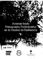 Avances hacia presupuesto participativo en la ciudad de resistencia